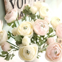 10 Pcs Silk Flower for Wedding Party and Home Deco Lulian Tea Rose Artificial Simulated