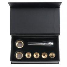 цена на 7pcs/set Trumpet Accessories 1-1/2C 7C 5C 3C Size Trumpet Mouthpiece Copper Gold 1 set With box Musical instrument accessories