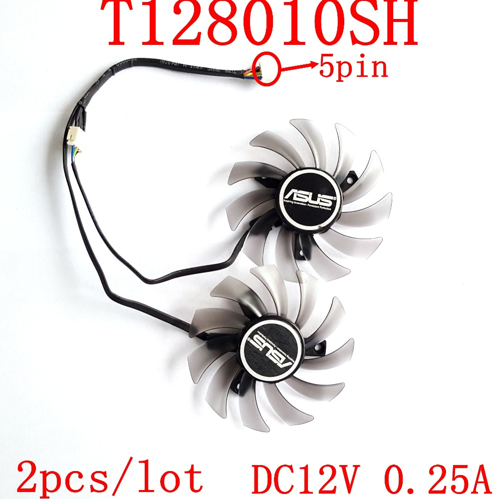 EVERFLOW T128010SH 0.25A 4pin diameter 75MM hole 4MM graphics card fan