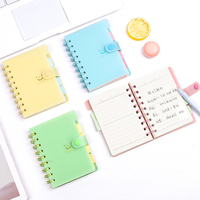 Cute Kawaii Smile Candy Color Portable Coil Notebook Daily Memos Writing Notepad School Office Supply Stationery