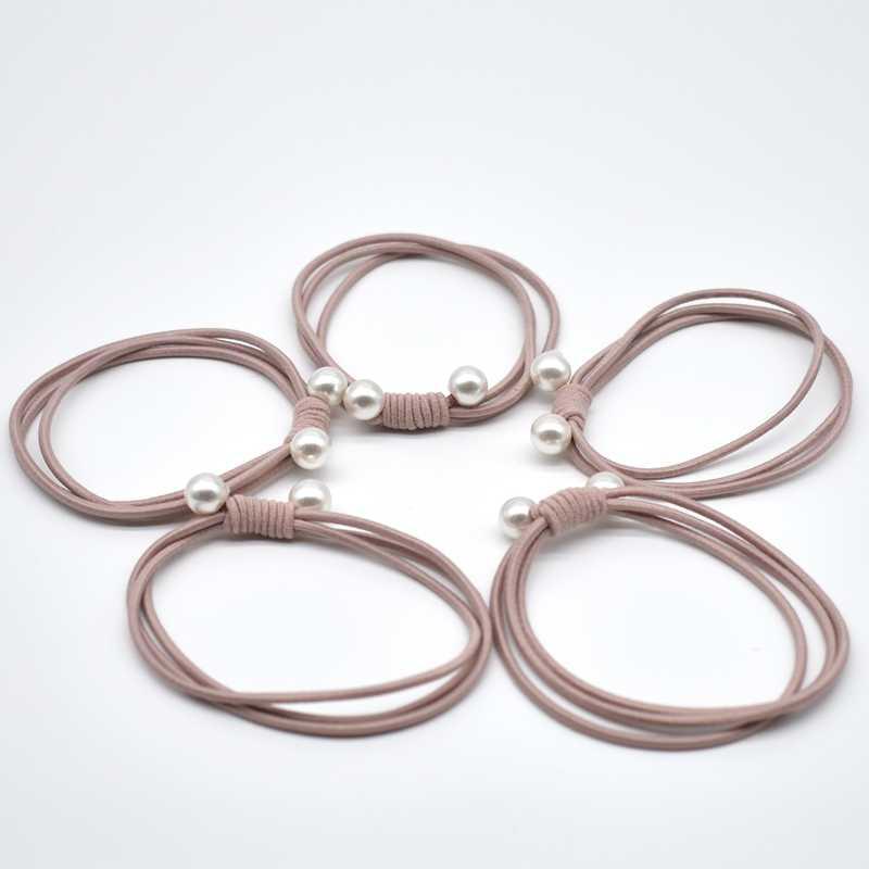 5 Pcs Headbands ผมอุปกรณ์เสริมผมวงยืดหยุ่นผมเชือกยางวงผม Scrunchies 55500