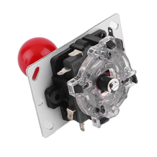 ACEHE Classic 4/8 way DIY Joystick Red Ball Fighting Stick Replacement Parts For Game