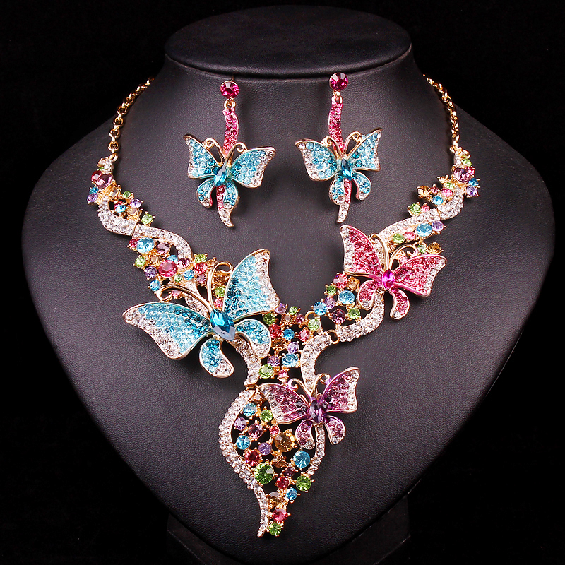 Bridal Jewelry Sets & More Wedding Necklace Earring For Brides Party Accessories Gold Co ...