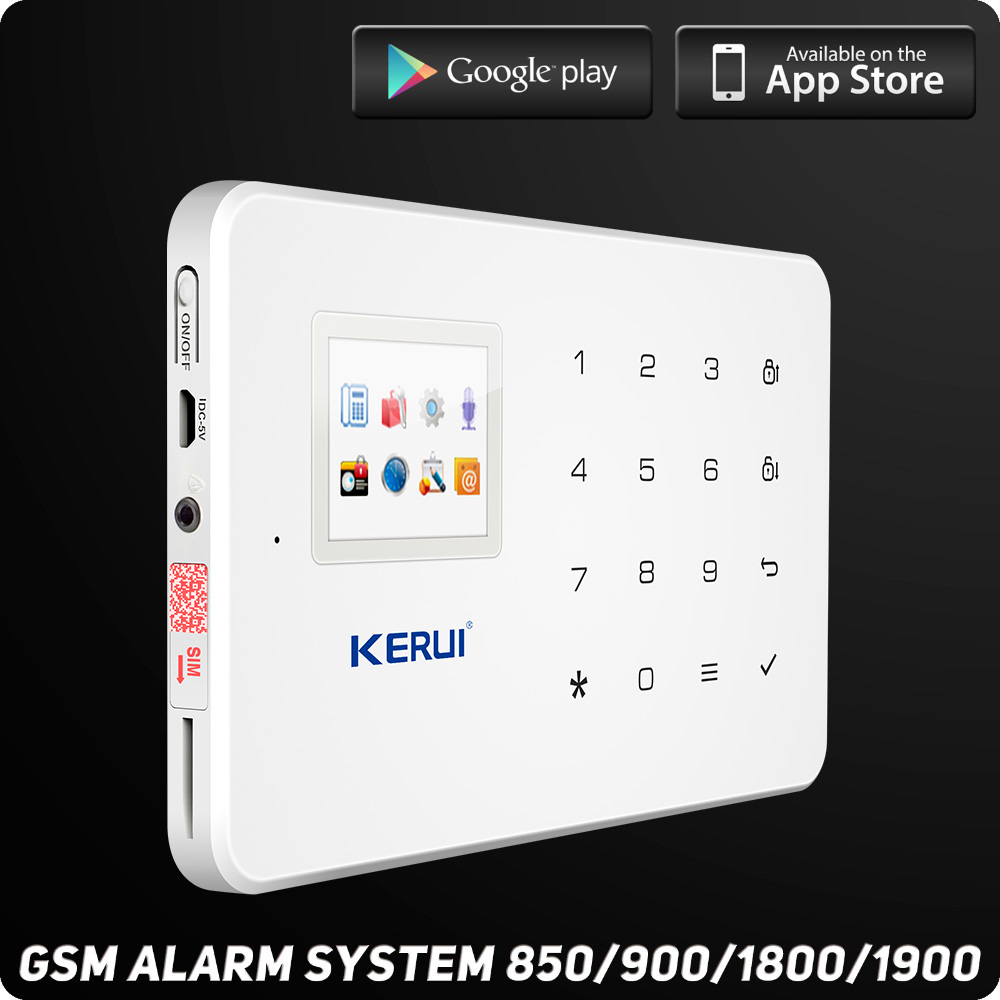 Kerui Wireless Wired GSM Home Security Alarm System L ISO Android APP TFT  Touch Panel Security Alarm System Wifi IP Camera In Alarm System Kits From  ...