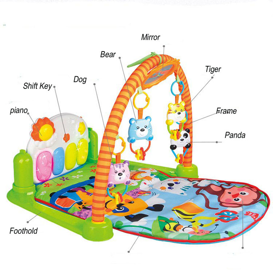 Rubber floor mats baby - 83 70 53cm Baby Educational Toys Play Mat Carpet Goma Eva Baby Puzze Music Crawling Mat With Music And Piano Foam Flooring Kids