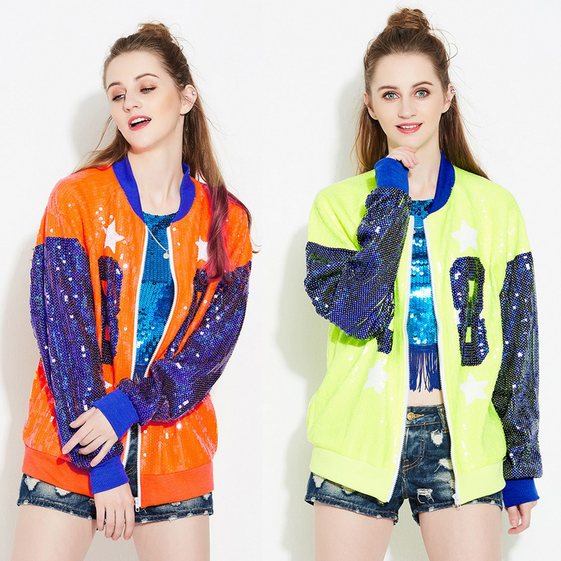 Women Stage DS Singer Performance Costumes Party Dance Modern Dance Sequin Coat Hip Hop Jazz Moder Dance Performance Outfits