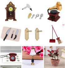 Diy miniature Bathroom House Doll Accessories Kids Toy Building Kits Mutlti Styles Scale 1/12 1:12(China)