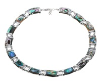 Natural abalone shell necklace choker fashion jewelry adjustable birthday gifts for women mom her wife girlfriend I006 dropship