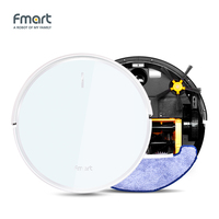 Fmart FM R570Fmart Vacuum Cleaner Robot Intelligent For Home Appliances Tempered Glass App Control Automatic Vacuums