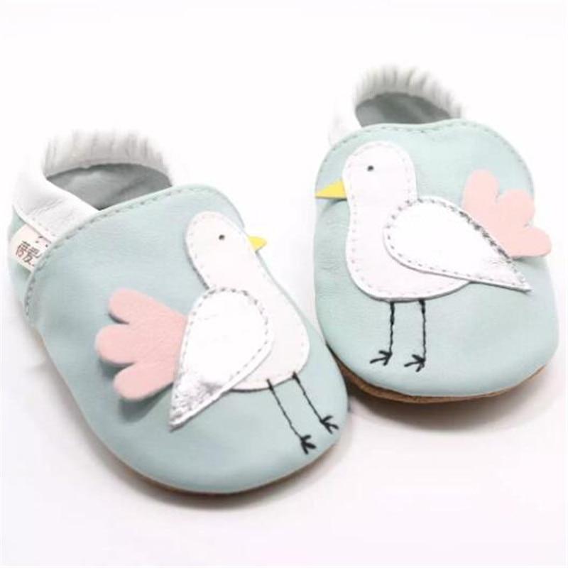 """100% natūralios odos kūdikių mergaičių batai """"Soft Soled"""" naujagimio šlepetės Vaikiški batai"""
