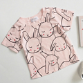 2017 Spring Summer kids Bobo Choses Girls T-Shirts Rabbit Pattern Short Sleeved T Shirts Cute Boys Clothing Infant Toddler Top