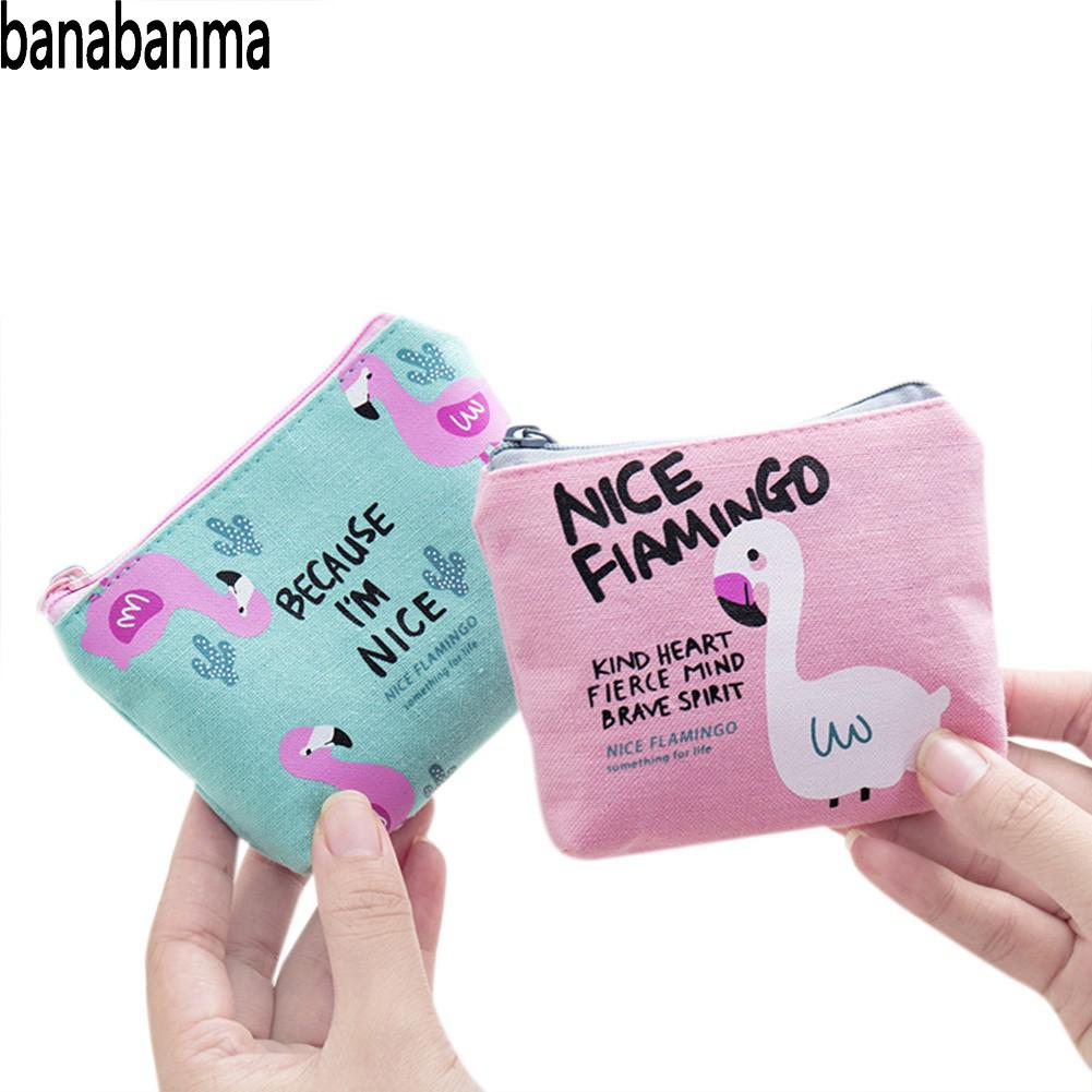 PinShang Women Wallet Girl Coin Purse Cute Flamingo Zipper Change Bag Phone Bag Pencil Case Purses And Wallets Coin Purses ZK40