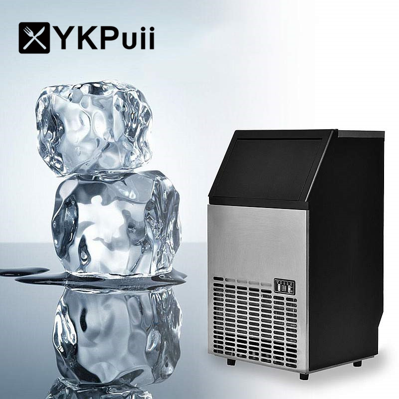 YKPuii Built In Stainless Steel Commercial Ice Maker Portable Ice Machine Restaurant Bubble herbaty/kawy/Barware Coolers