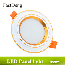 hot deal buy 3w 5w led downlight cob ac200-240v round led panel light ceiling smd5730 300lm 500lm spot led recessed downlights 220v 3colors