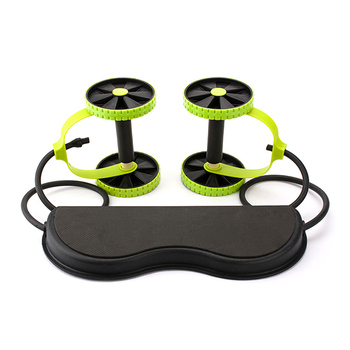 New Muscle Exercise Double Wheel Abdominal Power Wheel Ab Roller