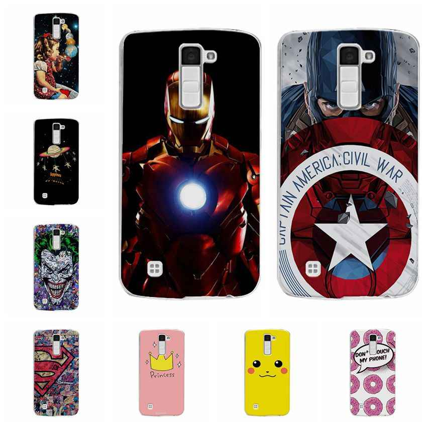 Ample Captain America Cases Coque For LG K7 LG M1 Tribute 5 Soft Silicone Phone Case Capa For LGK7 X210 X210DS MS330 Back Cover