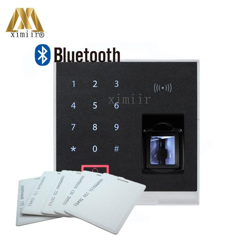 Système biométrique de contrôle d'accès de contrôle d'accès d'empreinte digitale de X8-BT avec la fonction de Bluetooth et le lecteur de carte de 125 KHZ RFID