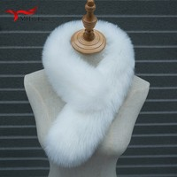 Winter New Bib Faux Fur Fox Fur Scarf Women Ladies Scarfs Long Plush Thickening Collar Winter Wild Artificial Scarf Luxury Shawl