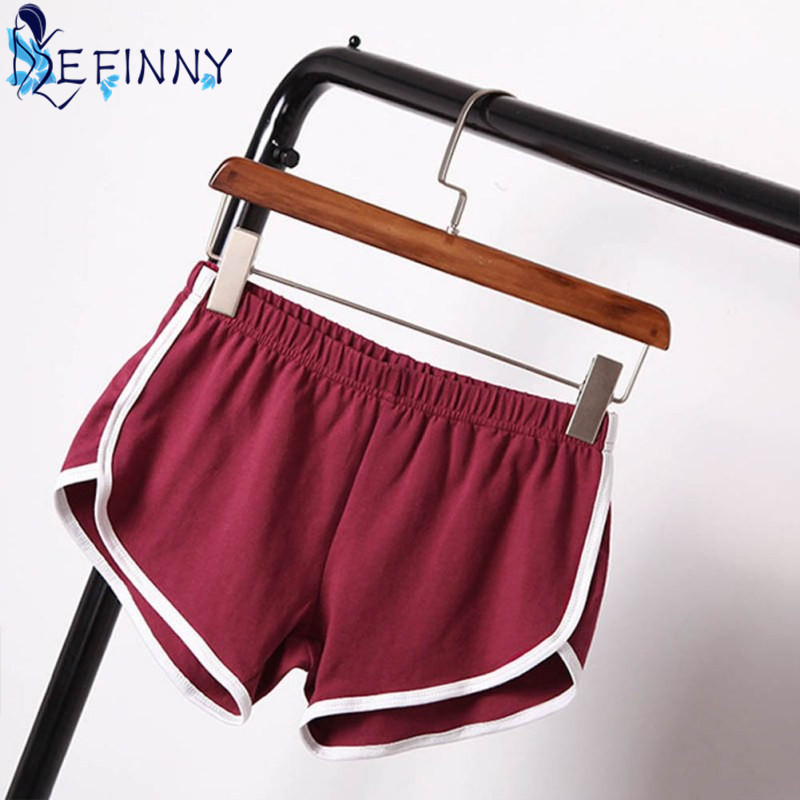 2019 Best Selling Summer Shorts Women Casual Cotton Cozy Multi Solid Colors Breathable Waistband Elastic Waist Skinny Shorts
