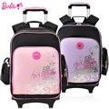 Барби chilren/дети роллинг рюкзак тележка школы мешок книги рюкзак для девочек класса 3-6