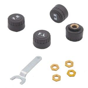 Image 3 - Système de contrôle de pression des pneus, sécurité, capteur Tpms, pour voiture, solaire intelligent, sans fil, 4 roues externes