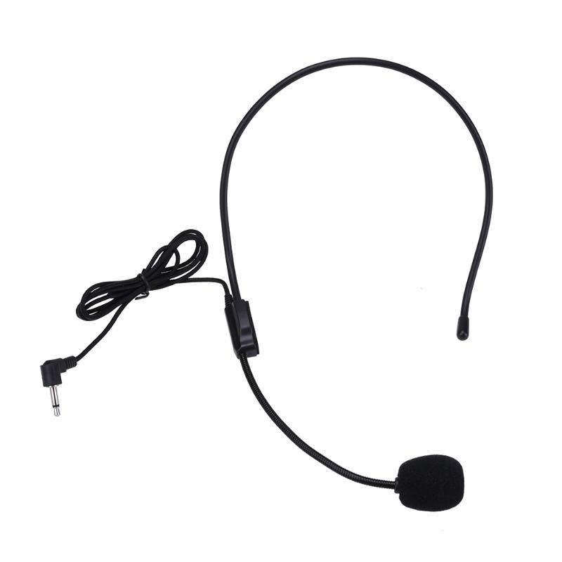New Head-mounted headset microphone Portable Lightweight Wired 3.5mm Plug Guide Lecture Speech Headset mic for teaching meeting