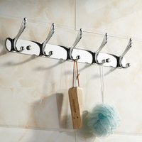 Stainless Steel Hooks Gold Silver Color Wall Mounted Clothes Hook Bathroom Accessories Bath Hardware Set Accessories Af10