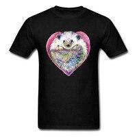 Interesting Short Sleeve Men Printing Machine Classic Love Hearts Crew Neck T Shirts