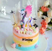 toy unicorn cake topper gifts for girls kids children party decoration birthday girl toys horse cupcake toppers