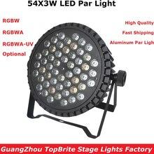 лучшая цена  2017 Factory Price Big Discount 180W High Power LED Par Light 54X3W RGBW Single Color Led Flat Par Lights 90-240V New Design