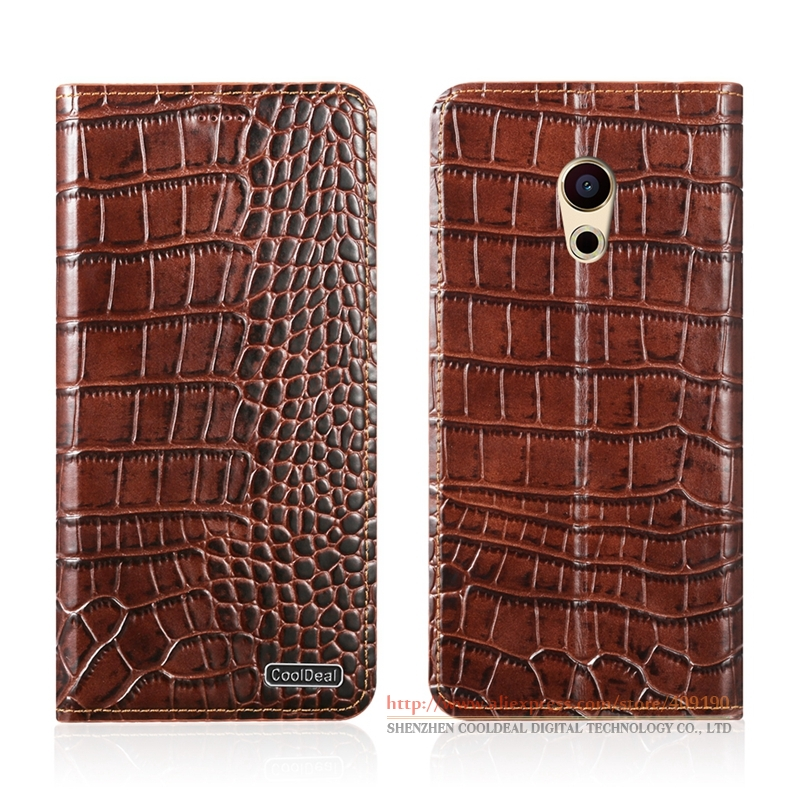 KickStand Magnetic Flip Cover Case For Meizu Pro <font><b>6</b></font> Pro6 5.2&#8243; Luxury <font><b>Phone</b></font> Crocodile Lines Genuine Leather Case &#038; <font><b>1</b></font> Card Slot