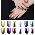 Nuevo 2 g/caja Shinning Espejo Mágico Polvo Del Polvo de Uñas Glitters DIY Nail Art Lentejuelas Decoraciones Herramientas Pigmento de Cromo