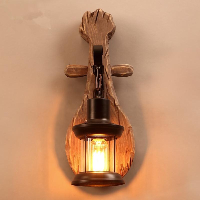 ՆՈՐ ձեղնահարկ Ամերիկյան Retro Solid Wood Wall - Ներքին լուսավորություն - Լուսանկար 3