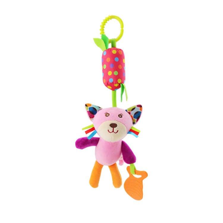 תינוק עגלת צעצועי בעלי החיים פיל ינשוף קוף חתול האריה כלב רעשנים חינוכיים צעצוע לילדים תינוק רעשנים לשחק יום הולדת מתנות