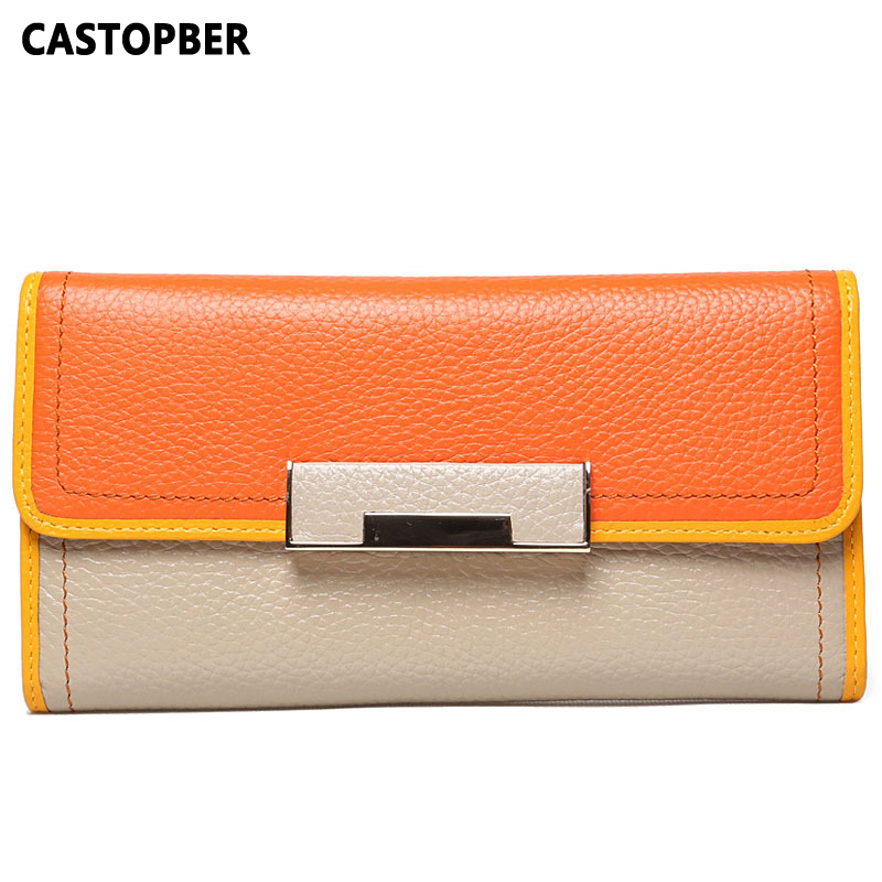Fashion Designer Cowhide Wallets Famous Luxury Brand Women Wallet Genuine Leather Long Style Ladies Purse Clutch Card Holder famous women luxury brand wallets genuine leather purse clutch ladies rivet pink wallet designer high quality long wallet thin
