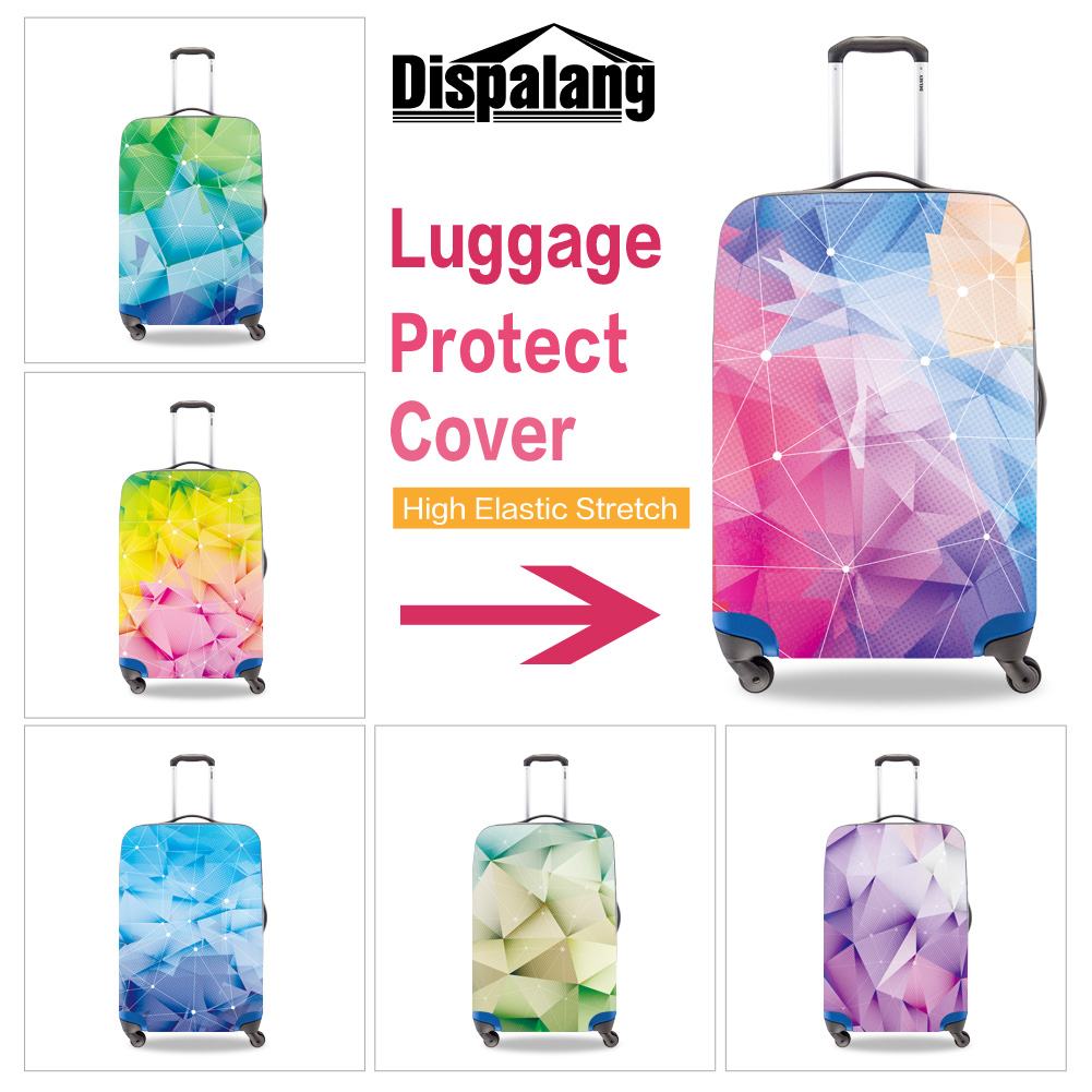 Dispalang персонализированные Индивидуальные 3D Алмазный поверхности печати чемодан защитник охватывает абсолютно Портативный Эластичный пут...