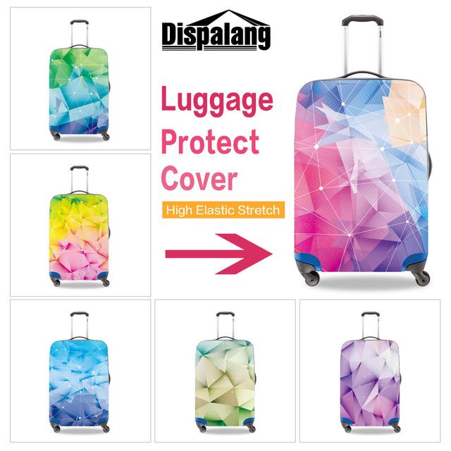 Dispalang personalizado personalizado covers protetor de superfície do diamante 3D impressão mala marca elástica portátil de viagem cobertura de bagagem