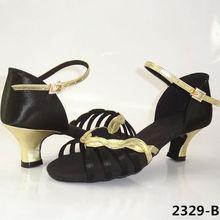 Salsa Dance Shoe Brand Modern Party Ballroom Women Latin Shoes Adult Sports Dancing Sneakers Buckle Black Sexy Discounts BD2329