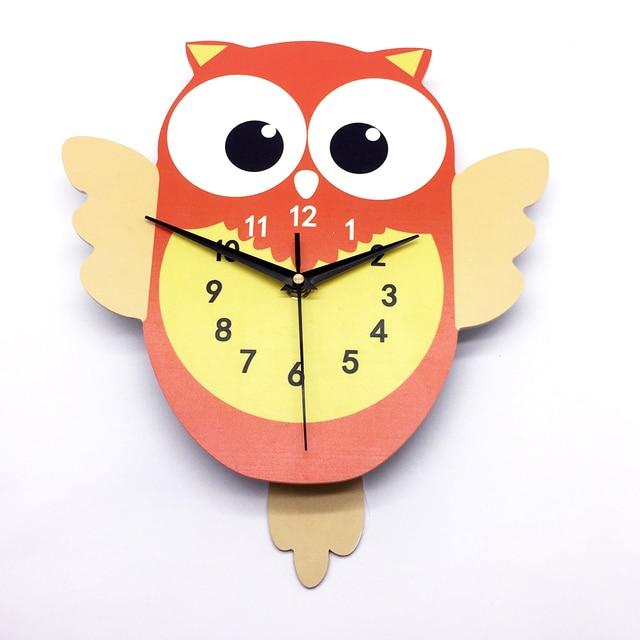 Funlife Owl 3D DIY Pendulum Clock Wall Decor Arabic Numerals Silent ...