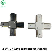 Track light rail connector,track fitting, led track connectors,four-phase connector,aluminum,free shipping