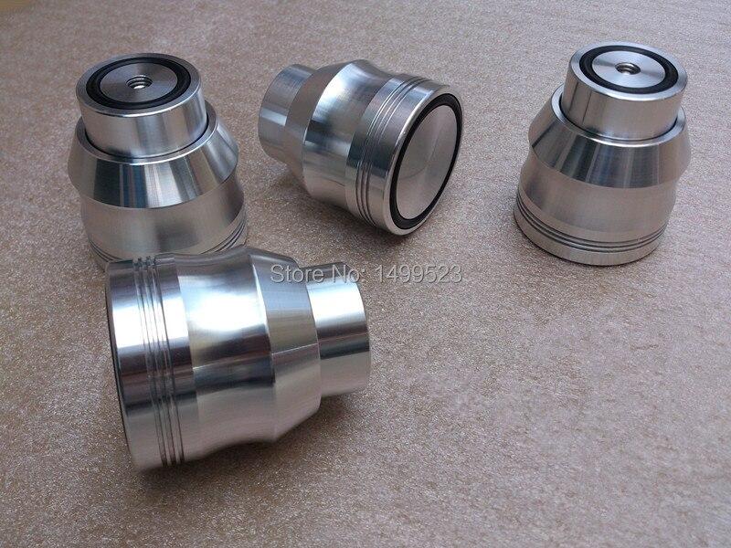 4 pièces En Aluminium Amplificateur Pieds D53 * H53 Son Lsolation Pointes Maglev Pieds HIFI Audio Support Tapis