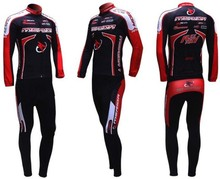 2011 MERIDA red black  cycling racing Team wear Winter Thermal Fleeced Long Sleeve Jersey & Z123 set Bike cycle Clothes tights