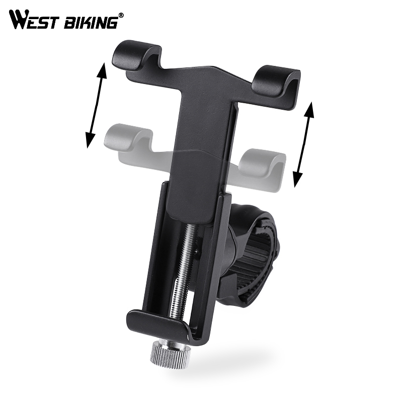 WEST BIKING Bike Phone Holder 360 Degree Rotation Phone Stand 3.5 Inch to 6.2 Inch Universal for Motorcycle Bicycle Handlebar