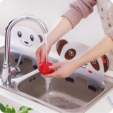 Cute Panda Shape Water Splash Guard Baffle Board Sucker Wash Basin Sink Board Kitchen Gadgets Impermeable Water Baffle Plate plasma th 42pa50c board baffle tnpa3242 tnpa3243