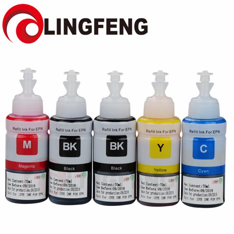 Tinta da Impressora para Epson L382 L365 L355 L310 L300 L220 L210 L1300 L1200 L110 L200 Impressora L565 L550 L486 L455 L386