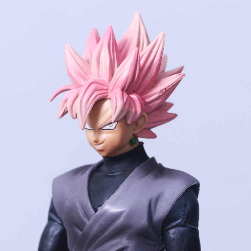 2018 NOVA alma X alma De Dragon Ball Z Super Saiyan Rosa cabelo Preto Action Figure Dragonball Goku Son Goku PVC Modelo Boneca brinquedos