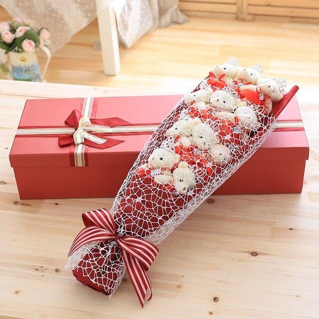 nooer plush teddy bear bouquet plush toy college graduation gift