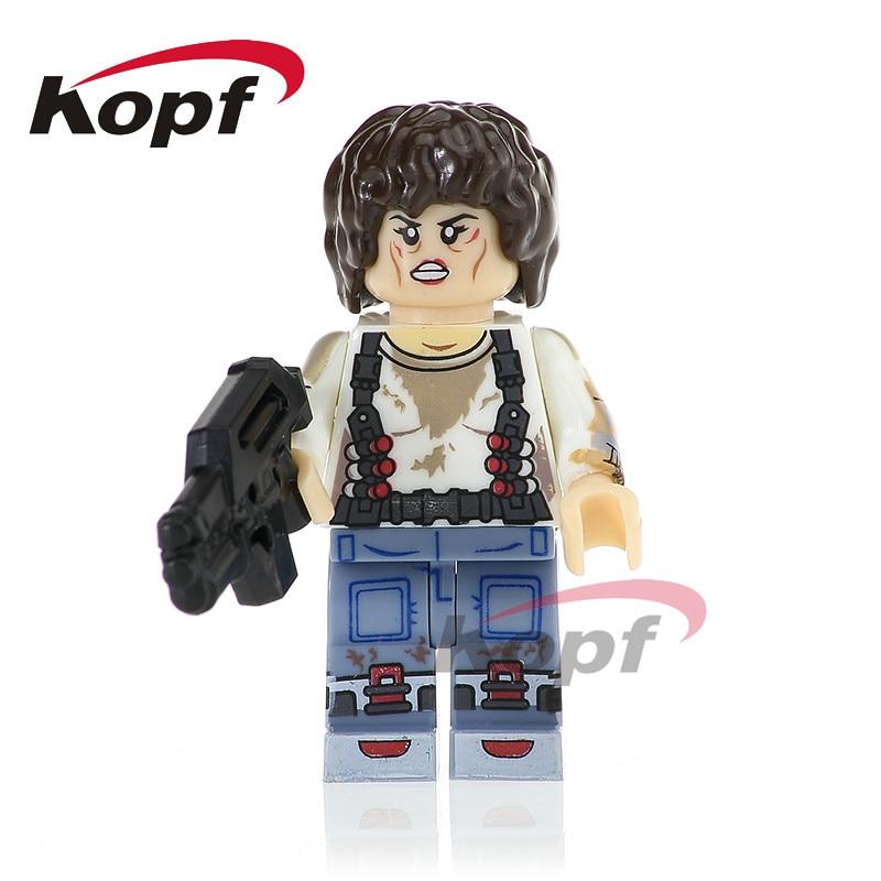 Single Sale Super Heroes Ellen Ripley Parasite Prometheus Bricks Action Building Blocks Collection Toys for children PG1090