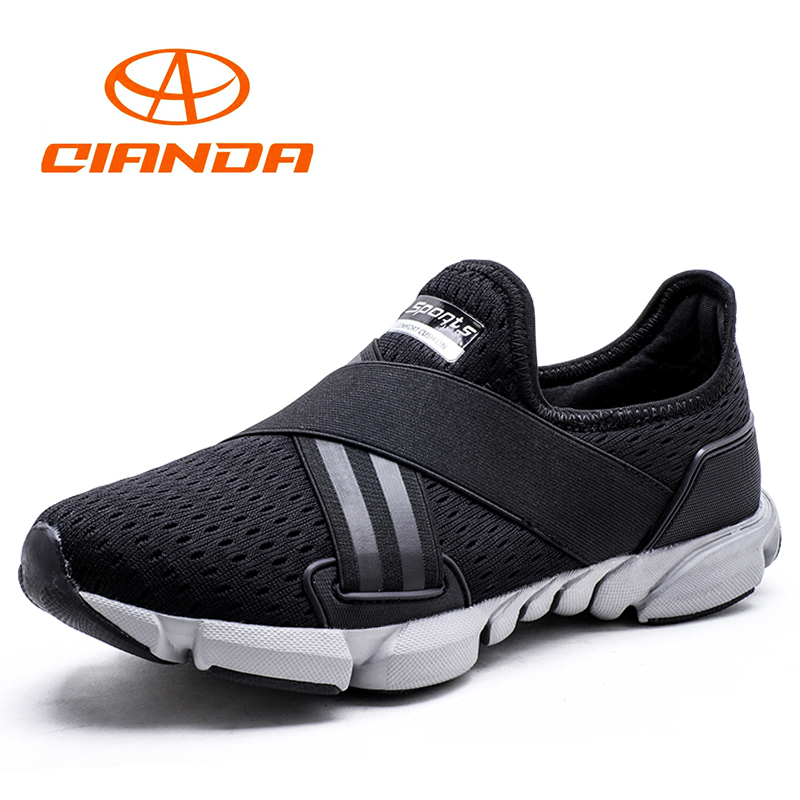 QIANDA Light Running Shoes for Men Cushioning Breathable Mesh Fabric Man Sneakers Comfortable Wear Non-slip Jogging Sport Shoes
