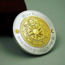 Aqumotic Таро монеты желаний денег лунный свет счастливое созвездие Солнце Луна Звезда памятная монета Золотое и Серебряное гадание божество